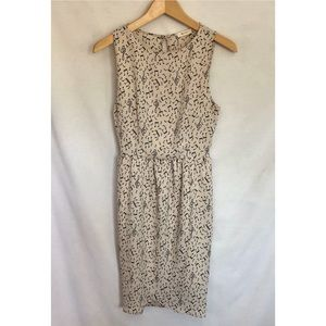 Everly music note pattern cream sleeveless dress S